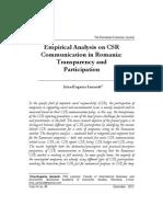 Analiza Empirica CSR Comm