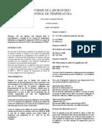 Informe de Lab Oratorio Control de Temperatura