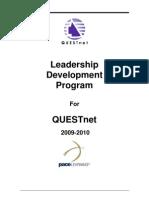 QUESTnet Leadership Development Participant Outline
