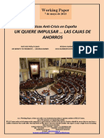 Políticas Anti-Crisis en España. UK QUIERE IMPULSAR LAS CAJAS DE AHORROS (Es) Anti-Crisis Policy in Spain. UK WANTS TO PROMOTE ... SAVINGS BANKS (Es) Krisiaren Aurkako Politikak Espainian. UK-K AURREZKI KUTXAK SUSTATU NAHI DITU (Es)