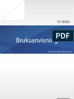 Samsung Galaxy S4 User Manual GT I9505, Jellybean, Swedish