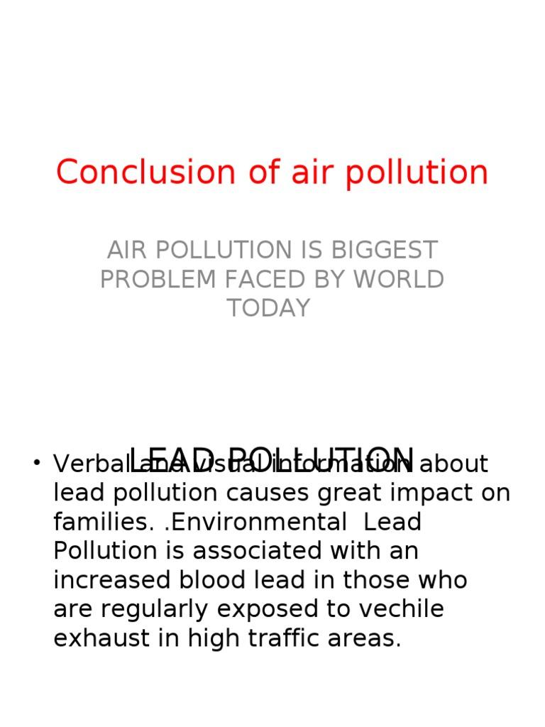 Cause essay pollution