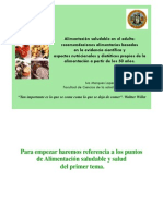 Alimentacion Saludable en El Adulto Recomenaciones Basadas en La Evidencia Cientifica y Aspectos