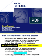 Best Practices for SQL in PLSQL