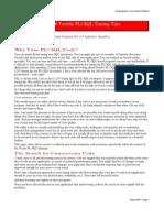 PLSQL Tuning Tips