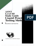 Liquid penetrant study guide