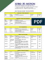 Sheet Metal Fabrication Stock List 3