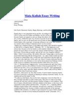 Tugas 3 Mata Kuliah Essay Writing
