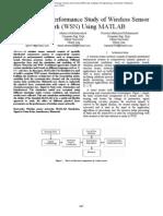 Simulation & Performance Study of Wireless Sensor Network (WSN) Using MATLAB