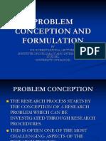 Problem Conception and Formulation