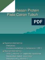 E&M_Patologi Klinik^Pemeriksaan Protein Pada Cairan Tubuh^