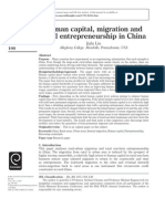 Human Capital EntrpreneHuman capital, migration and