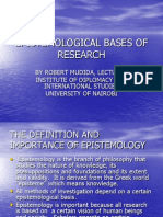 Epistemological Bases of Research