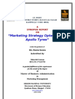 Shhardhul Gautam Synopsis Report on Marketing Strategy Opted by the Apollo Tyres
