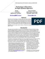 Technology in Education - An Agile Systems Approach