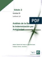 Lectura 14 - Análisis de las Bases de la Indemnización por antigüedad
