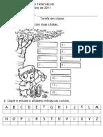 Ditado de Palavras Alfabeto