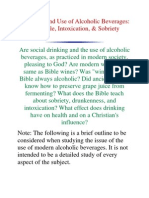 The Bible and Use of Alcoholic Beverages