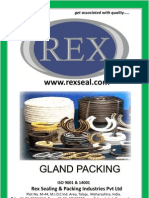 REX- Gland Packing (Mechanical Seal) - PTFE, Aramid, GFO, Gore , Graphite, Cotton, Kelvar