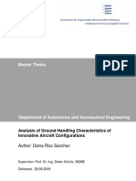 Analysis of Ground Handling Characteristics of Innovative Aircraft Configurations