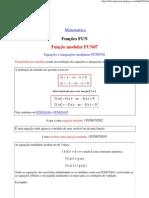 Equações e inequações modulares