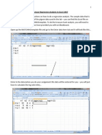 Linear Regression Analysis in Excel 2007