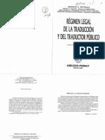 Régimen legal de la traducción y del traductor público - Witthaus