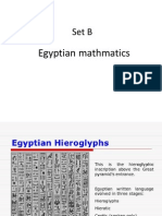 Set B Egyptian Mathematics