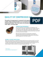 Quality of compressed air