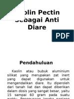 Kaolin Pectin Sebagai Anti Diare