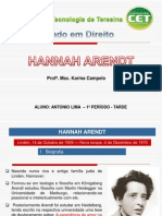 Trabalho de Hannah Arendt