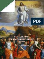 I y II vísperas de la Ascensión del Señor. Forma extraordinaria del Rito Romano