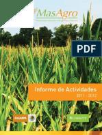 MasAgro Informe de actividades 2011-2012