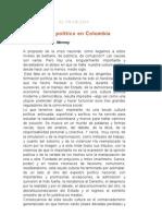 Atraso Politico en Colombia