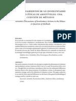 los tratamientos de lo involuntario en las éticas de aristóteles, una cuestión de métodos