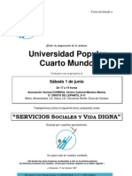 Carta Universidad Popular Junio 2013