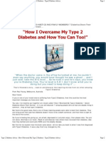 How I Reversed My Type 2 Diabetes