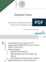 Presentación PROSOFT EJERCICIO 2013_v3