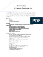 Basic Vehicle Dynamics Terminology
