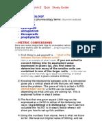 HS140 Unit 2 Quiz Study Guide