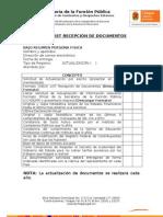 Nvo Formato Check List Recepcion
