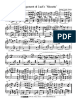 Arrangement of Bach's Musette
