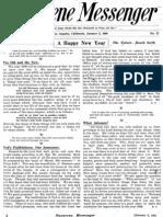 Nazarene Messenger - January 2, 1908