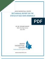 Nazi War Criminals Report 2013