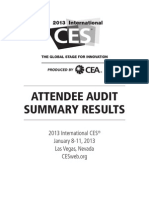 2013 International CES® Attendee Audit Summary