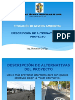 Descripcion de Alternativas de Un Proyecto