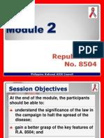 MODULE 2 (RA 8504)