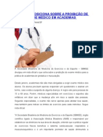 SBMEE SE POSICIONA SOBRE A PROIBIÇÃO DE EXAME MÉDICO EM ACADEMIAS.doc
