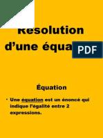 Résolution d'équations de degré 1 et rationnelle