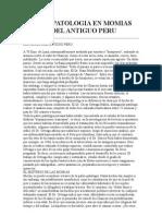Paleopatologia en Momias Del Antiguo Peru